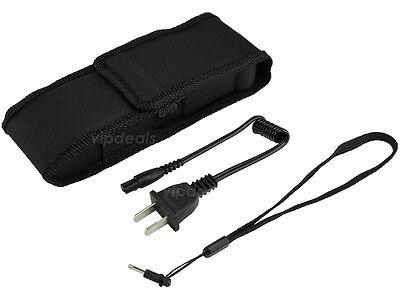 VIPERTEK BLACK VTS-979 - 53 BV Rechargeable LED Police Stun Gun + Taser Case