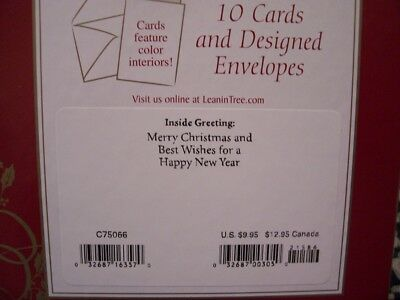 Leanin Tree Christmas Card Set Beautiful Cowboy Verse & Scene 10Pk