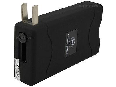 VIPERTEK BLACK VTS-880 50 BV Mini Rechargeable LED Police Stun Gun + Taser Case 4