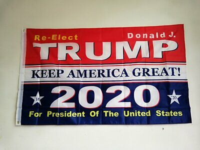 3x5 Ft Trump 2020 Keep America Great President Donald MAGA Flag US Blue & Red 3