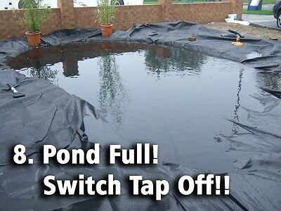 Pond Liner Special Offer 40yr Life with FREE Underlay. Next Day Delivery. 9