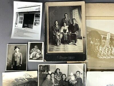 Collection of 19 Old Japanese MEIJI Prewar Postwar War Photographs 2