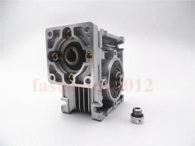Gearbox NMRV30 Turbo-Worm Gear Reducer Ratio 1:5 Square Flange for NEMA23 2