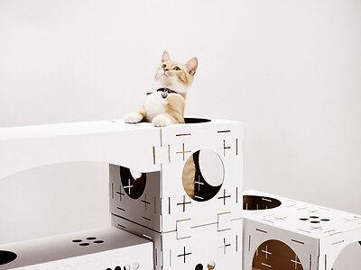 Cat Activity Centre Scratcher Kitten Cardboard Play Box Toy Scratching Post 2