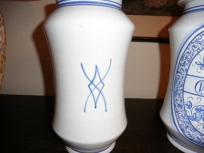 Deruta - Apotheker Vasen Majolika italienische Keramik handgemalt Paar 9