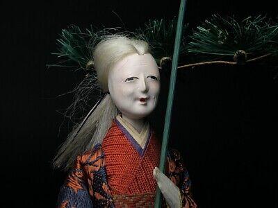 2 Antique NINGYO Japanese Dolls TAKASAGO HINA Old Japanese Couple 3