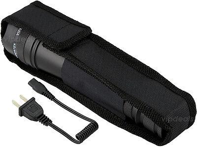 VIPERTEK METAL VTS-195 - 73 BV Rechargeable LED Police Stun Gun + Taser Case 4