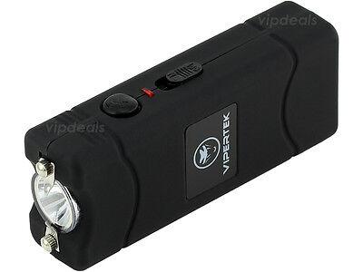 VIPERTEK BLACK VTS-881 35 BV Micro Rechargeable LED Police Stun Gun Taser Case