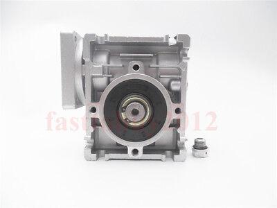 Gearbox NMRV30 Turbo-Worm Gear Reducer Ratio 1:5 Square Flange for NEMA23 3