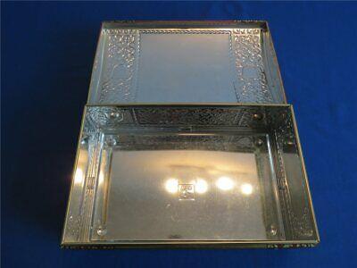 Alte weiss Silbertruhe Lebkuchen Blechdose - LEER - 270 x 170 x 100 Lebkuchendos 5