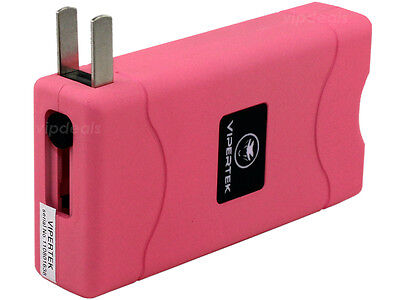 VIPERTEK PINK VTS-880 30 BV Mini Rechargeable LED Police Stun Gun + Taser Case