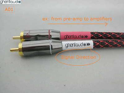 ---RCA Male to 2 x Female Canare L-4E6S Star Quad HIFI Audio Cable A19 0.3m 1ft