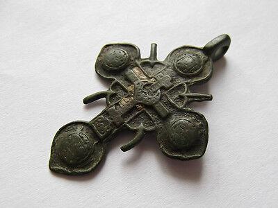 Medieval period  Bronze Cross Pendant 6