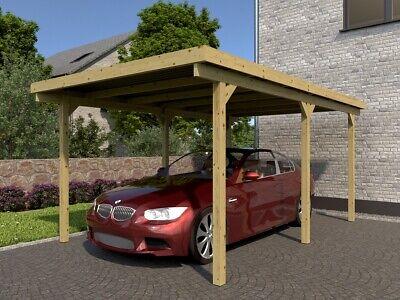 Gut bekannt HOLZ CARPORT 500X300CM 5x3m Einzelcarport Garage Flachdach incl SN69