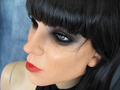 Latexmaske KEIRA +WIMPERN +PERÜCKE - Real. Frau Gesicht Crossdresser Sissy Gummi