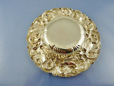 """ART NOUVEAU BORDER ROUND MINT BOWL 6"""" #6194 BY WHITING MFG Co. STERLING """"FPM"""" 5"""