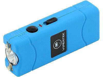 VIPERTEK BLUE VTS-881 55 BV Micro Rechargeable LED Police Stun Gun Taser Case 3