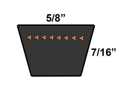 D/&D PowerDrive B137 V Belt  5//8 x 140in  Vbelt