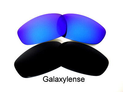 2f4df203cc ... Galaxy Replacement Lenses For Oakley Split Jacket Black Blue Polarized  2Pair 3