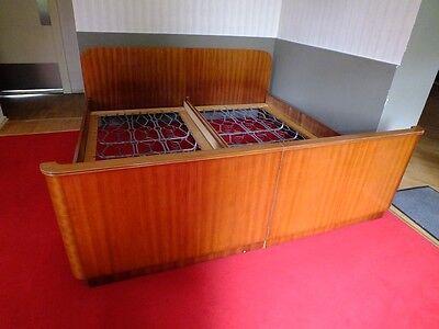 vintage sehr sch ne stabile echtholz betten original aus den 50 60er jahren eur 125 00. Black Bedroom Furniture Sets. Home Design Ideas