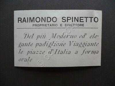 Raimondo Spinetto Padiglione Viaggiante Ovale Attrazioni Cartoncino Illustrato