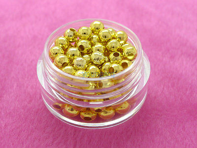 2.5mm 3mm 4mm 6mm 8mm Metal Round Ball Spacer Beads Gold Silver Plated 7