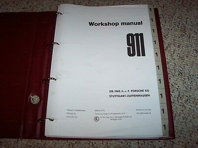 porsche 911 1973 factory service repair manual