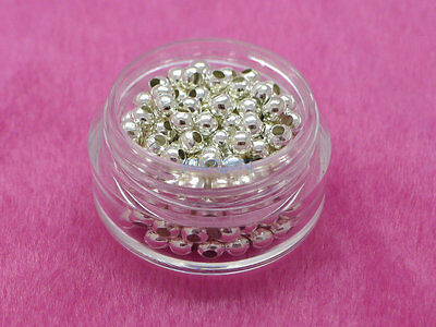 2.5mm 3mm 4mm 6mm 8mm Metal Round Ball Spacer Beads Gold Silver Plated 9