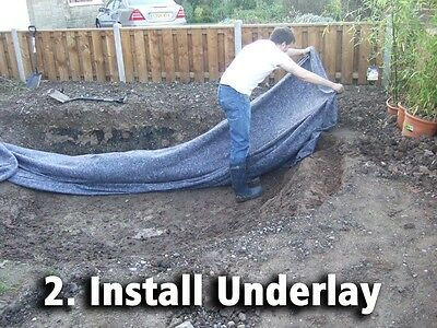 Pond Liner Special Offer 40yr Life with FREE Underlay. Next Day Delivery. 3