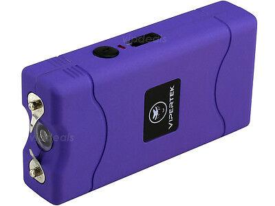 VIPERTEK PURPLE Mini Stun Gun VTS-880 50 BV Rechargeable LED Flashlight 3