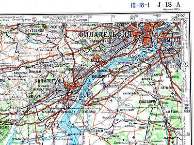 RUSSIAN SOVIET MILITARY Topographic Maps WASHINGTON DC USA - Military topographic maps