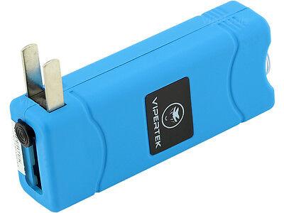 VIPERTEK BLUE VTS-881 55 BV Micro Rechargeable LED Police Stun Gun Taser Case 4
