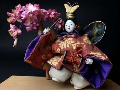 Antique NINGYO Japanese Doll Playing Drums KABUKI Butterfly Dance 2