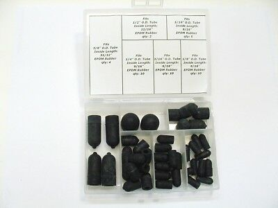 Ford Linc 41 Vacuum Intake Manifold Caps Carburetor Throttle Body Rubber Plugs