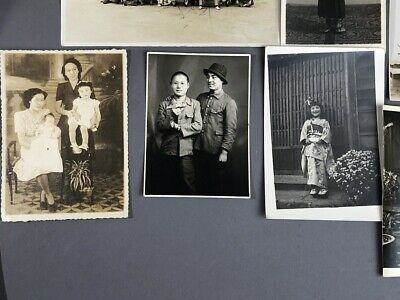 Collection of 19 Old Japanese MEIJI Prewar Postwar War Photographs 8