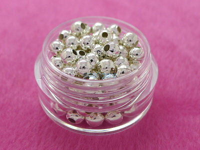 2.5mm 3mm 4mm 6mm 8mm Metal Round Ball Spacer Beads Gold Silver Plated 3