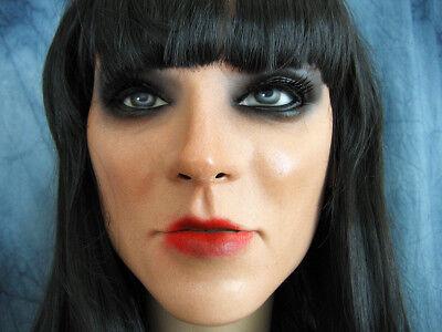 Latexmaske KEIRA +WIMPERN +PERÜCKE - Real. Frau Gesicht Crossdresser Sissy Gummi 4
