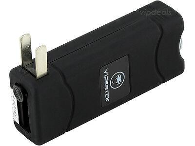 VIPERTEK BLACK VTS-881 55 BV Micro Rechargeable LED Police Stun Gun Taser Case 4