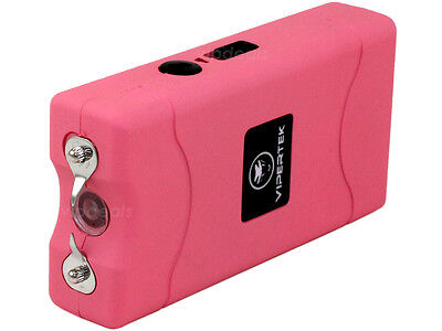 VIPERTEK PINK VTS-880 100 BV Mini Rechargeable LED Stun Gun 3