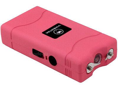 VIPERTEK PINK Mini Stun Gun VTS-880 30 BV Rechargeable LED Flashlight