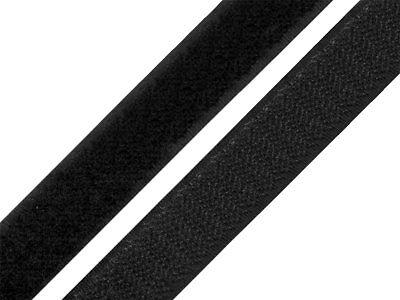 1 m Klettverschluss Klettband 20 mm Hakenband Flauschband zum Nähen Aufnähen 2