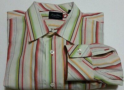 f370ec2130 ... Tommy Bahama Indigo Palms Long Sleeve Button Front Shirt Men s XL  Stripes