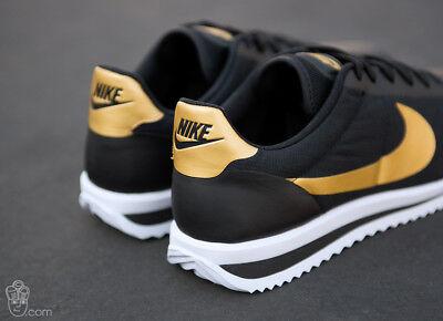 New Nike Cortez Ultra QS Mens Retro Casual Shoes Size 11.5 Black Gold 882493 001 | eBay