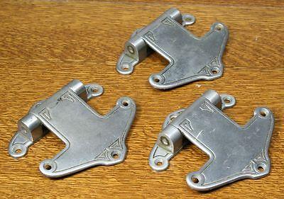 Vintage Art Deco / Nouveau Cast Metal Hinges. Set of 3 Unusual Design 10