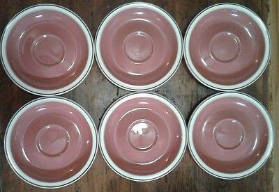 Denby Damask Teacup and Saucer Set of 6 Pink Floral 5