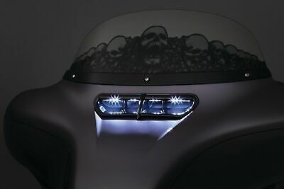 Kuryakyn Chrome Batwing Fairing LED Lighted Vent Accent Harley Touring 2014-2017