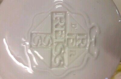 Apothekenstandgefäß Dr. REISS Weißes Porzellan mit gold alt♥️ werbung 4