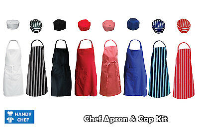 Chef Bib Apron and Chef Hat,,..see handychef store for quality chef jackets,pant 2