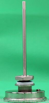 "Weldless Thermometer 5"" Long- Home Brewing - All Grain - Boiler - Mash Tun - HLT 3"