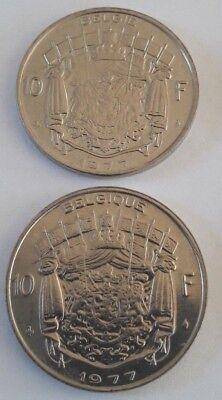 10 Francs, 10 Frank 1969 -1979 Belgique Belgïe Belgium Baudouin FR NL KM# 155 10
